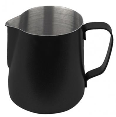 Baristazubehör Milchkännchen mit Teflon-Perlbeschichtung schwarz