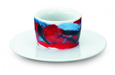 Amici Tassen Espresso MOU rot-dunkelblau 1er