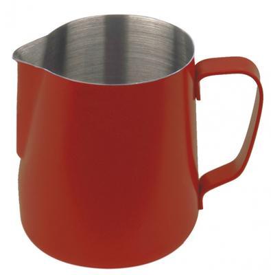 Baristazubehör Milchkännchen mit Teflon-Perlbeschichtung rot