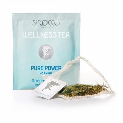 Sirocco Tee DETOX – Wellness Tea Pure Power - Grüntee mit Mate und Zitrusaromen Bio 20er