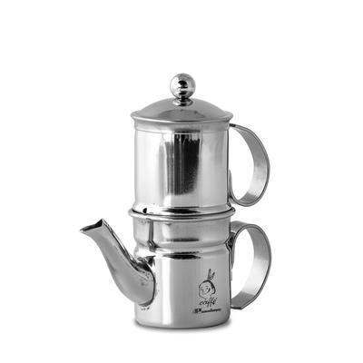 Caffettiera Napoletana Kaffeezubereiter Inox 3-4 Tassen
