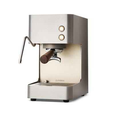 Zuriga Siebträgerkaffeemaschine mit Dampf E2-S GEBÜRSTETER CHROMSTAHL