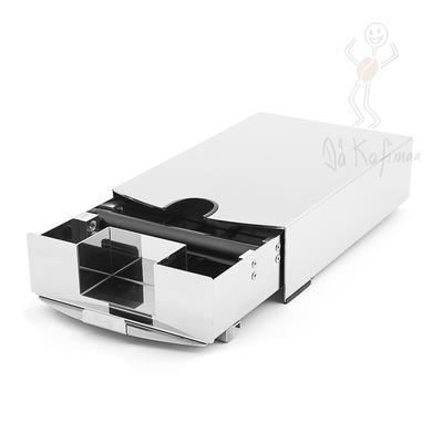 Baristazubehör ZWEI IN EINS Klein Sudschublade mit integrierter Tamperstation (BxHxT: 160x85x330mm)