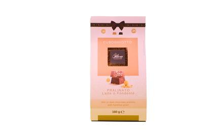 Cuboghiotto Pralinato Milch- oder dunkle Schokolade mit Haselnussstücken 160g