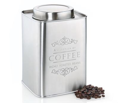 Zassenhaus Kaffee-Vorratsdose Edelstahl 500g