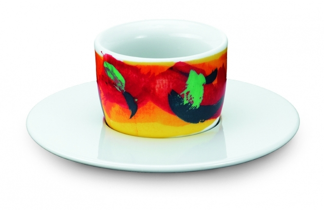 Amici Tassen Espresso MOU rot-gelb 1er