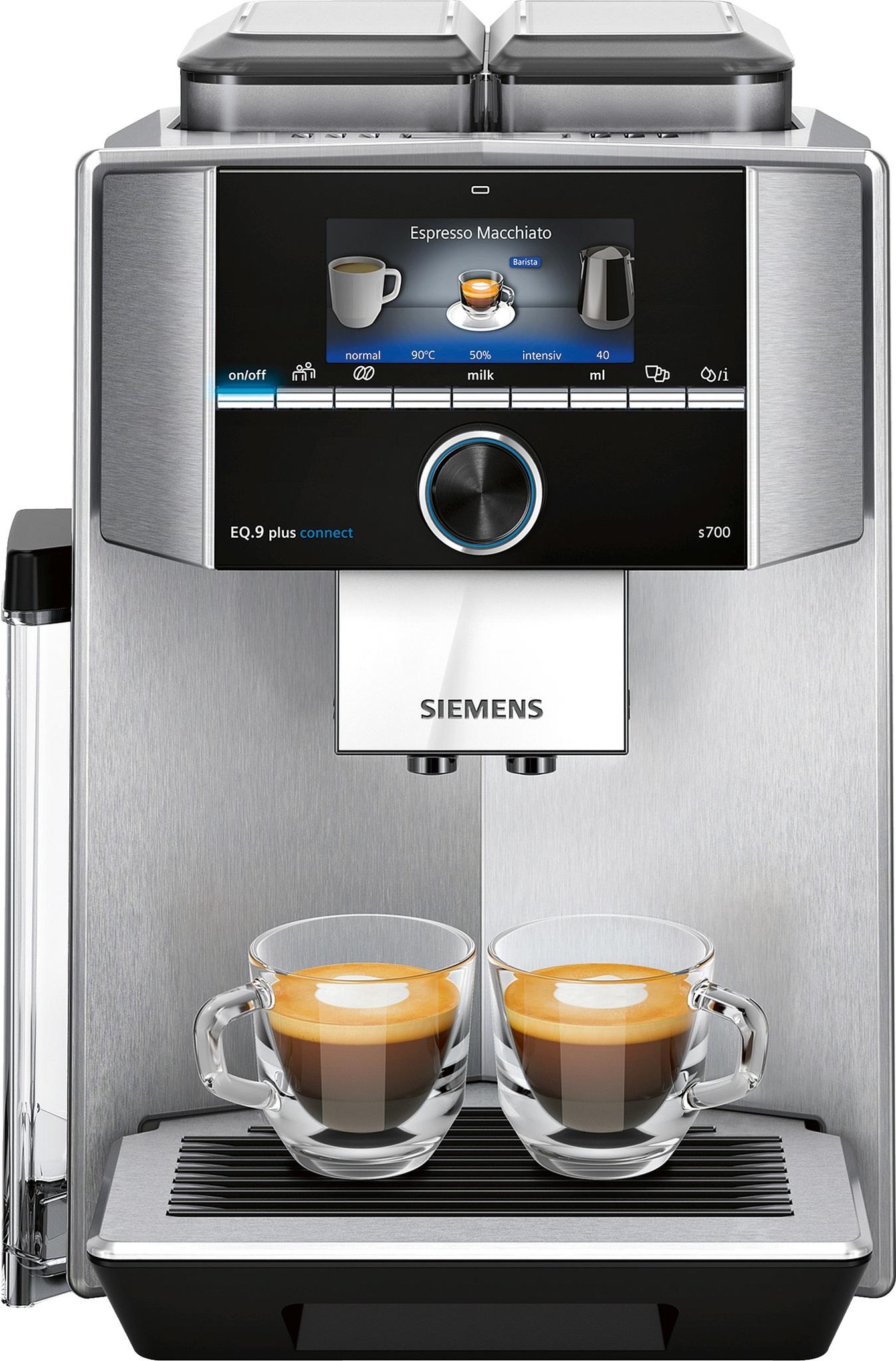 Siemens Kaffeevollautomat EQ.9 plus connect s700 extraKLASSE Chrom Hochglanz